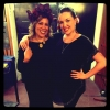Kate Ceberano with Sarah-Grace Williams, backstage Sydney Opera House