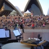View from the timpani during sound check for Opera House forecourt concert