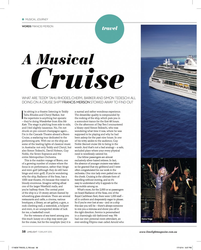 Bravo Cruise Review